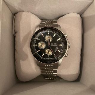 Gucci - GUCCI 美品箱付き腕時計  Gタイムレスクロノ自動巻きシルバー ブラック