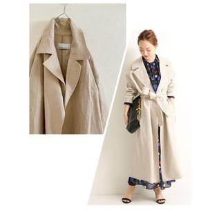 DEUXIEME CLASSE - upper hights linen beige ロングコート チェスターコート