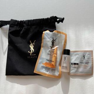 Yves Saint Laurent Beaute - YSL イヴ・サンローラン テスター&巾着セット コスメ 黒 ノベルティ