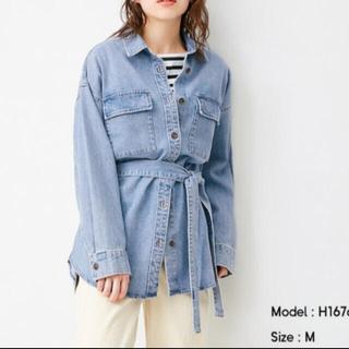 【新品】GU オーバーサイズデニムシャツ デニムジャケット