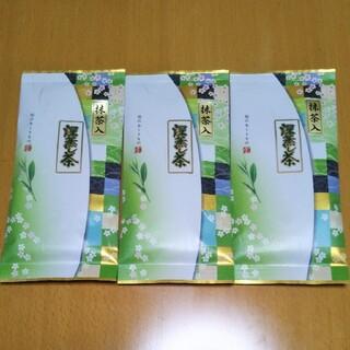 静岡県産 令和2年の新茶抹茶入り深蒸し茶100g✖3袋セット 新品未開封(茶)