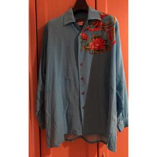 Yohji Yamamoto - Yohji Yamamoto 1996ss 花と少年期 鳳凰シルクシャツ