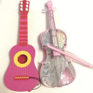 ディズニー ドリームレッスン ライト オーケストラ バイオリン ギター セット(楽器のおもちゃ)