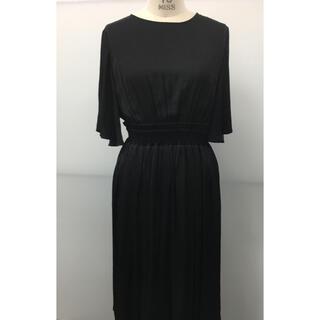 ユナイテッドアローズ(UNITED ARROWS)のユナイテッドアローズ  購入 黒 ウエストゴムドレス新品未使用タグ付き(ロングドレス)
