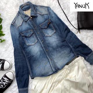 ヤヌーク(YANUK)の美品! ヤヌーク  デニットシャツ  ブラウス  (シャツ/ブラウス(長袖/七分))