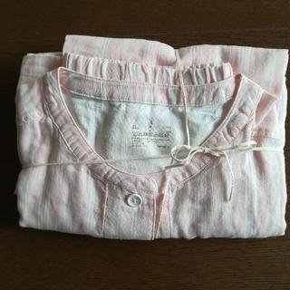MUJI (無印良品) - MUJI無印良品    脇に縫い目のない細番手二重ガーゼ七分袖パジャマ