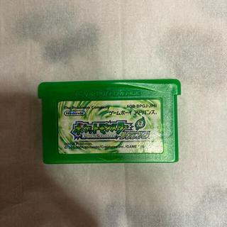 ゲームボーイアドバンス(ゲームボーイアドバンス)のポケットモンスターリーフグリーン(携帯用ゲームソフト)