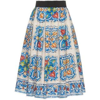ドルチェアンドガッバーナ(DOLCE&GABBANA)のクーポン割引dolce&gabbana マヨリカスカート(ひざ丈スカート)