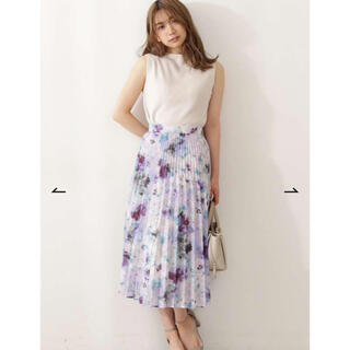 PROPORTION BODY DRESSING - 新品タグ付♡シアーフラワープリーツスカート