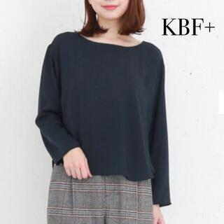 ケービーエフプラス(KBF+)のKBF+  バックタックブラウス プルオーバー ブラック(シャツ/ブラウス(長袖/七分))