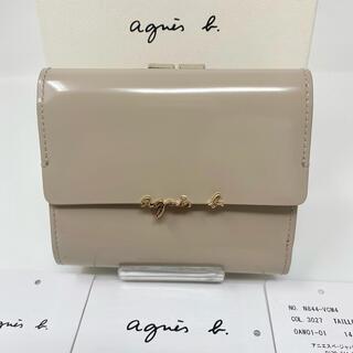 agnes b. - 未使用☺︎agnes b.  voyage アニエスベー 二つ折り財布 ベージュ