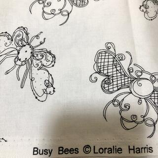1点のみ再入荷 訳あり ロラライハリス Busy Bees 1m(生地/糸)