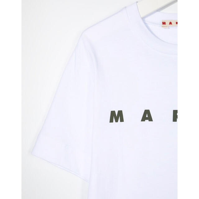 Marni(マルニ)の【新作】MARNI ロゴTシャツ ホワイト 10  1点のみ!! レディースのトップス(Tシャツ(半袖/袖なし))の商品写真