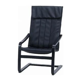♐スリムのリラックスチェア◼️オールブラック 幅59cm 肘掛け付き 椅子(ロッキングチェア)