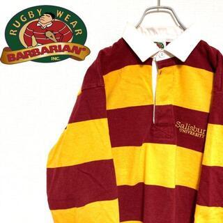 バーバリアン(Barbarian)の●BARBARIAN● カナダ製 アメリカ古着 刺繍 ラガーシャツ メンズ(ポロシャツ)