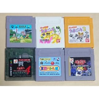 ゲームボーイ(ゲームボーイ)のゲームボーイソフト6本セット (携帯用ゲームソフト)