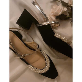 snidel - french retro pearl shoes