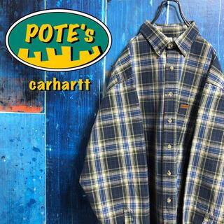 carhartt - 【カーハート】レザーロゴ入りポケットレトロワークチェックシャツ