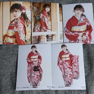 エヌジーティーフォーティーエイト(NGT48)の角ゆりあ 新成人生写真(アイドルグッズ)