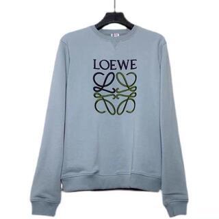 LOEWE - LOEWE スウェット 刺繍 ブルー サイズ M