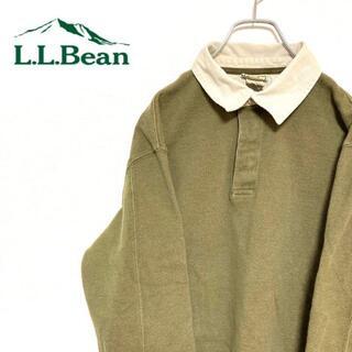 エルエルビーン(L.L.Bean)の●エルエルビーン● アメリカ古着 無地 ラガーシャツ カーキ メンズ(ポロシャツ)
