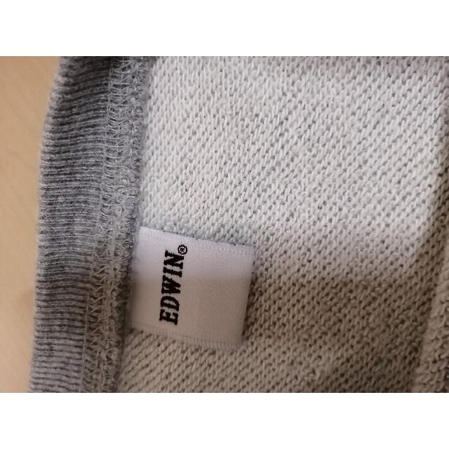 EDWIN(エドウィン)のエドウィン!トレーナー!140!肉厚!裏毛!綿100% キッズ/ベビー/マタニティのキッズ服女の子用(90cm~)(Tシャツ/カットソー)の商品写真