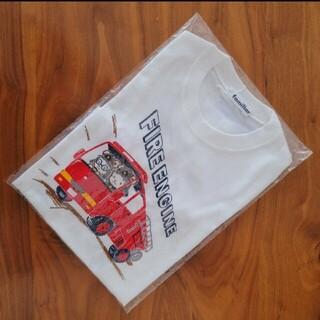 familiar - 新品 未開封 110㎝ familiar おはなしTシャツ 消防車