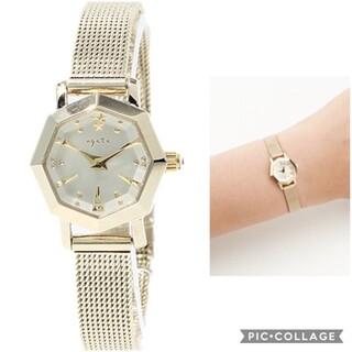 agate 時計 アガット オクタゴン 八角形 ゴールド