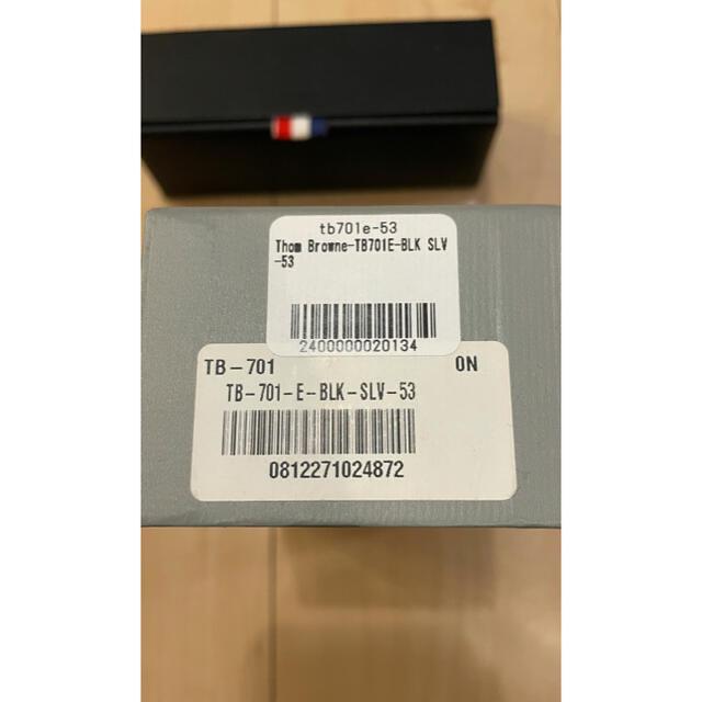 THOM BROWNE(トムブラウン)の限定特価❗️ thom browne トムブラウン TB 701 E BLK  メンズのファッション小物(サングラス/メガネ)の商品写真