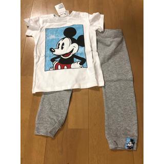 H&M - ミッキー tシャツ 半袖 シャツ パンツ 長ズボン ズボン