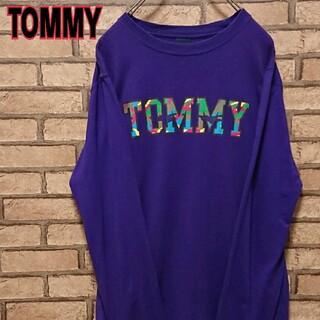 トミー(TOMMY)のTOMMY トミー フロント ロゴ プリント 長袖 カットソー(Tシャツ/カットソー(七分/長袖))