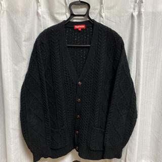 Supreme - Supreme Cable Knit Cardigan ニット カーディガン L