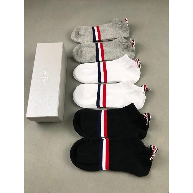 THOM BROWNE(トムブラウン)のTHOM BROWNE  トムブラウン  靴下  5枚组 メンズのレッグウェア(ソックス)の商品写真