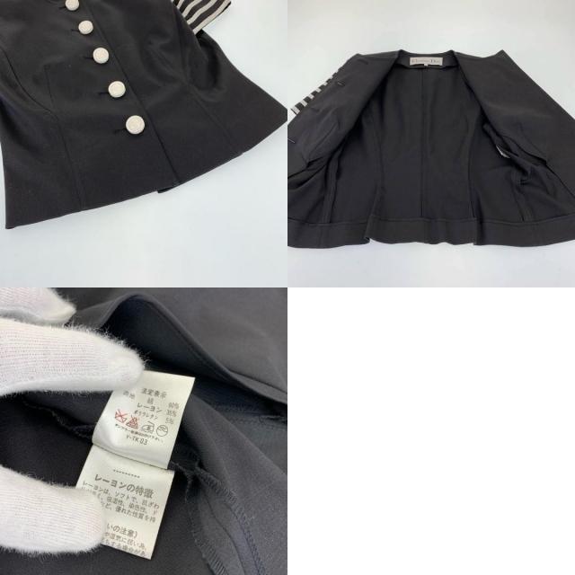 Christian Dior(クリスチャンディオール)のクリスチャンディオール ノーカラージャケット 102649 レディースのジャケット/アウター(ノーカラージャケット)の商品写真