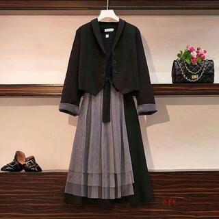 新品 未使用 大きいサイズ 卒業式スーツ レディース 結婚式 お呼ばれ5]0(スーツ)