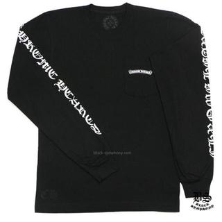 Chrome Hearts - クロムハーツ ロングTシャツ スクロールラベル ブラック