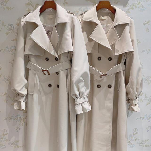 evelyn(エブリン)のAnMILLE くしゅっとロングトレンチ アンミール トレンチコート レディースのジャケット/アウター(トレンチコート)の商品写真