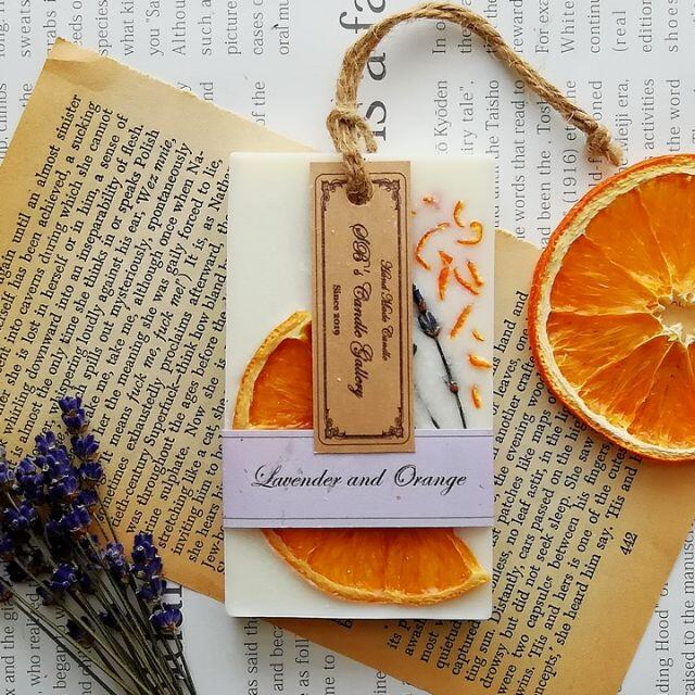 Lavender and Orange 《RECTANGLE》 ハンドメイドのインテリア/家具(アロマ/キャンドル)の商品写真