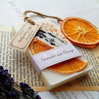 Lavender and Orange 《RECTANGLE》(アロマ/キャンドル)