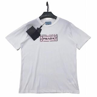 プラダ(PRADA)の新しいピンクのプリントロゴレディース半袖(Tシャツ(半袖/袖なし))