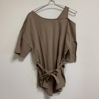 スプレイ(SpRay)のスプレイプレミアム ワンショルダー チュニック(Tシャツ(半袖/袖なし))
