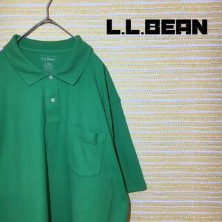 エルエルビーン(L.L.Bean)のエルエルビーン L.L.BEAN ポロシャツ L 緑 輸入古着 かわいい(ポロシャツ)