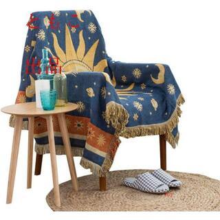 宮廷風 フリンジ付き綿製品のブランケット多機能 ソファーのカバー ラグ テーブ(コーナーソファ)