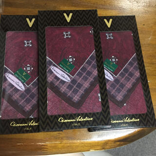 ジャンニバレンチノ(GIANNI VALENTINO)の新品未使用 ヴァレンティノ   ハンカチ  まとめ売り(ハンカチ/ポケットチーフ)