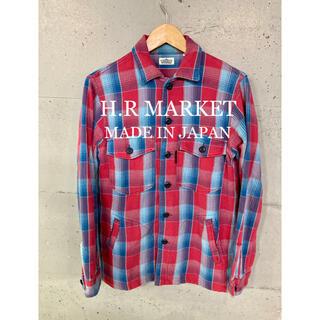 ハリウッドランチマーケット(HOLLYWOOD RANCH MARKET)のH.R MARKET ポケット付きネルシャツ!日本製!(シャツ)
