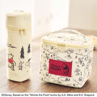 クマノプーサン(くまのプーさん)のsteady 5月号 くまのプーさん 保冷バッグ& ペットボトルホルダー(弁当用品)