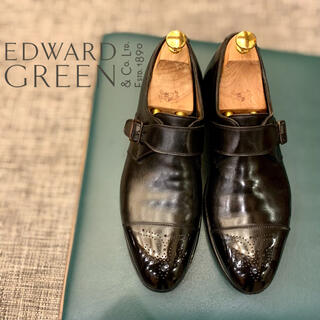 EDWARD GREEN - 英国名門《EDWARD GREEN》シングルモンク82ラスト6.5