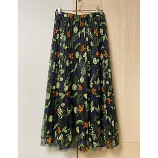 GRACE CONTINENTAL - フルーツ刺繍プリーツスカート 36