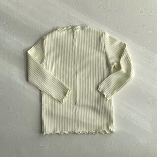 petit main - 韓国子供服 メロウフリルリブTシャツ