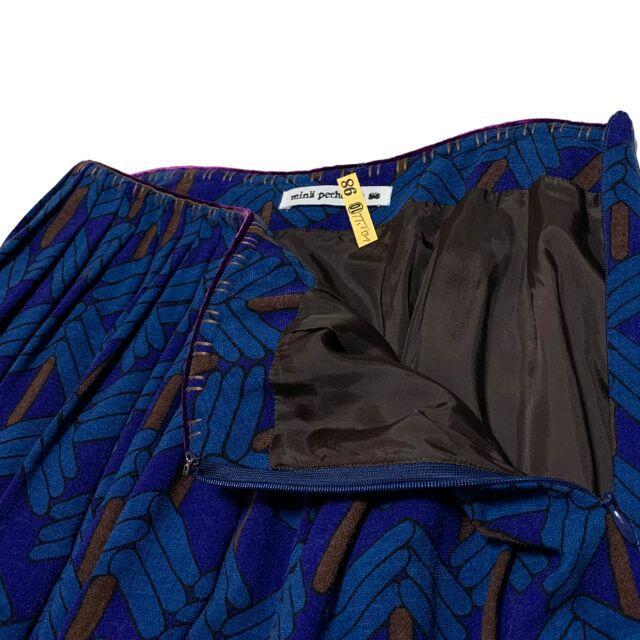 mina perhonen(ミナペルホネン)のミナペルホネン stick tree ウール プリーツ フレア スカート 36 レディースのスカート(ひざ丈スカート)の商品写真
